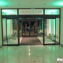 DJ na súkromnú rodinnú oslavu , dekoračné LED osvetlenie farba zelená, sála v hoteli Montfort Kolovrat v Tatranskej Javorine