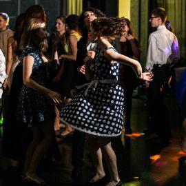 Tanečná momentka zo stužkovej slávnosti v Poprade