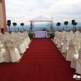Ozvučenie svadobného obradu, exteriér Grand Hotel Bellevue Vysoké Tatry