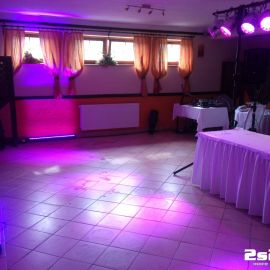 DJ na svadbu, príprava osvetlenia farba ružová v Koliba u Zbojníkov Veľká Lomnica