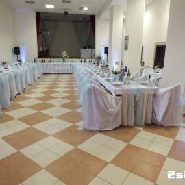Príprava na svadobnú zábavu - osvetlenie sály