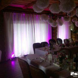 DJ na luxusnú svadbu, dekoračné osvetlenie vo Wellnes Mountain Cottage Ceder, Tatranská Lomnica