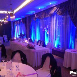 DJ na svadbu a dekoračné osvetlenie, farba modrá v hoteli Residence na Donovaloch
