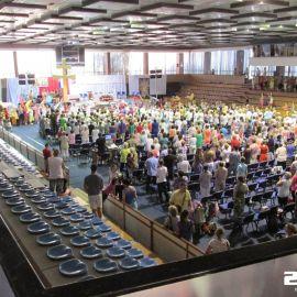 Ozvučenie konferencie v mestskej športovej hale Trnava